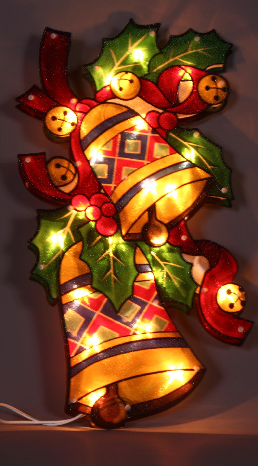 bell glitter silhouette christmas lights
