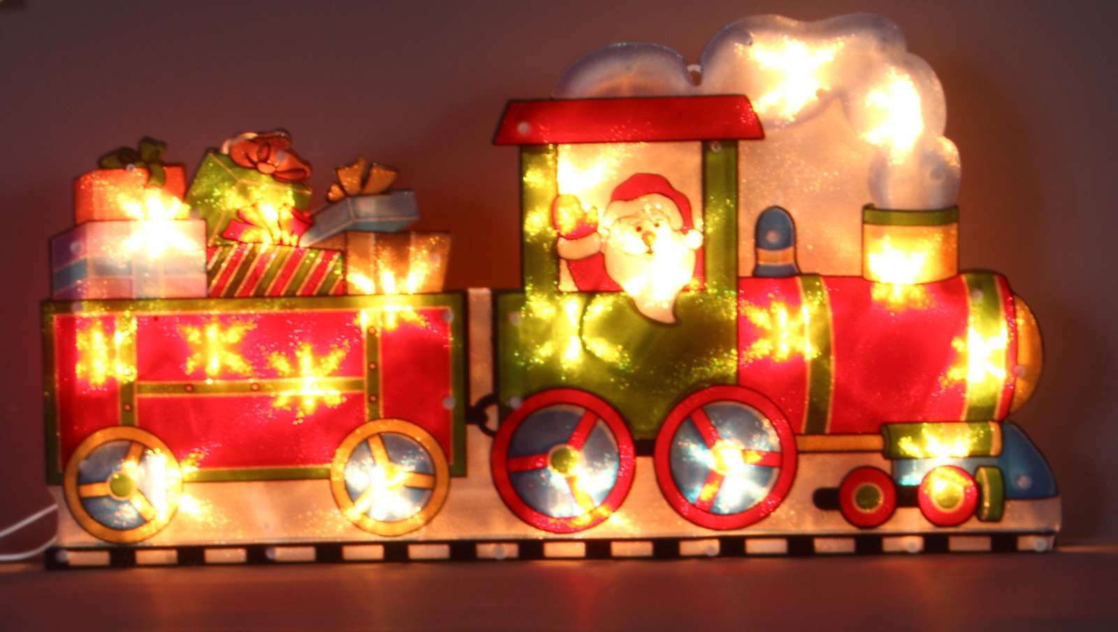 Santa in train silhouette christmas lights christmas lights displays santa in train silhouette christmas lights aloadofball Choice Image