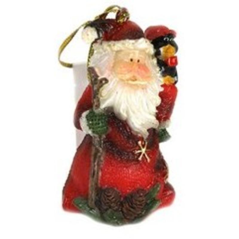 P/rsin Santa w/stick Hanging