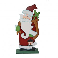 Wooden Santa sculpture