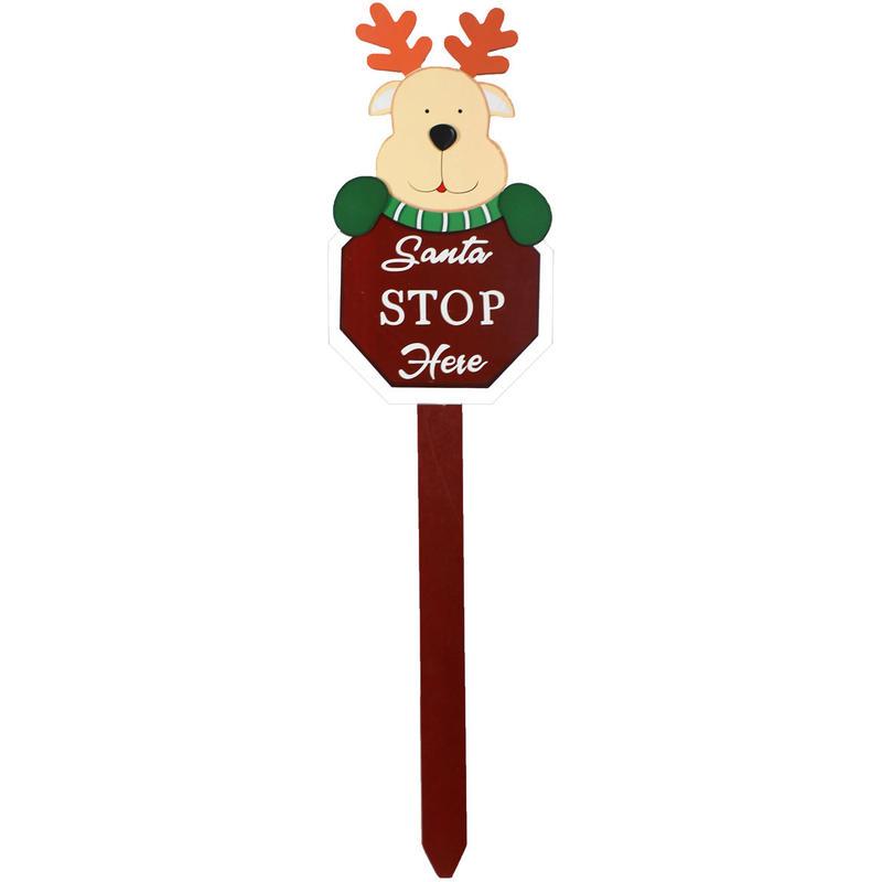 Reindeer Stop Sign