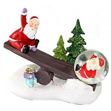 Santa Seesaw Snowglobe