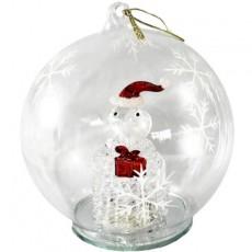 Santa In Glass Bauble