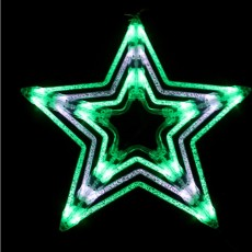 51cmh LED Star Green/White