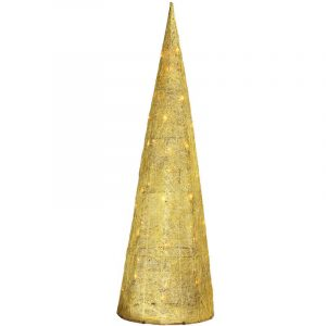 Gold Sisal Cone With Min Lights 3-S (One Piece With One Adaptor) 100