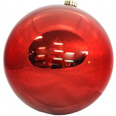 20cm Bauble Red
