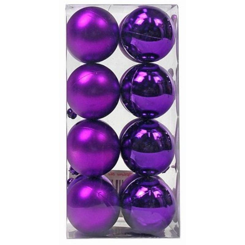 Purple Baubles 40mm