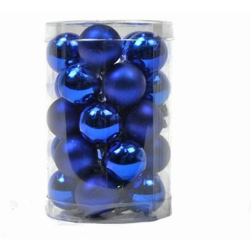 Blue Baubles 25mm