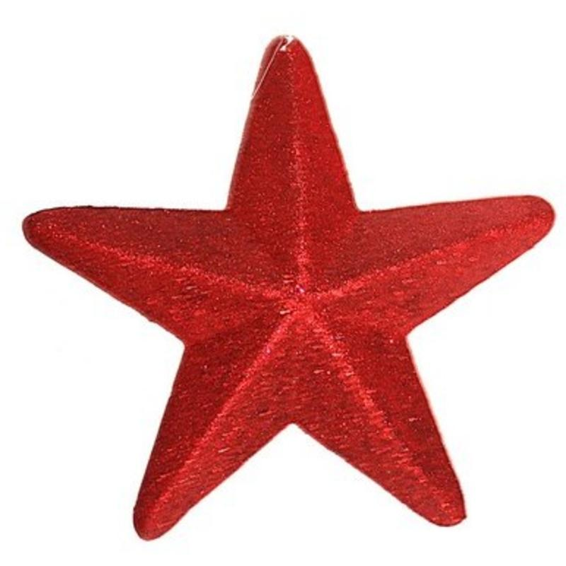 30cm Glitter Star Red