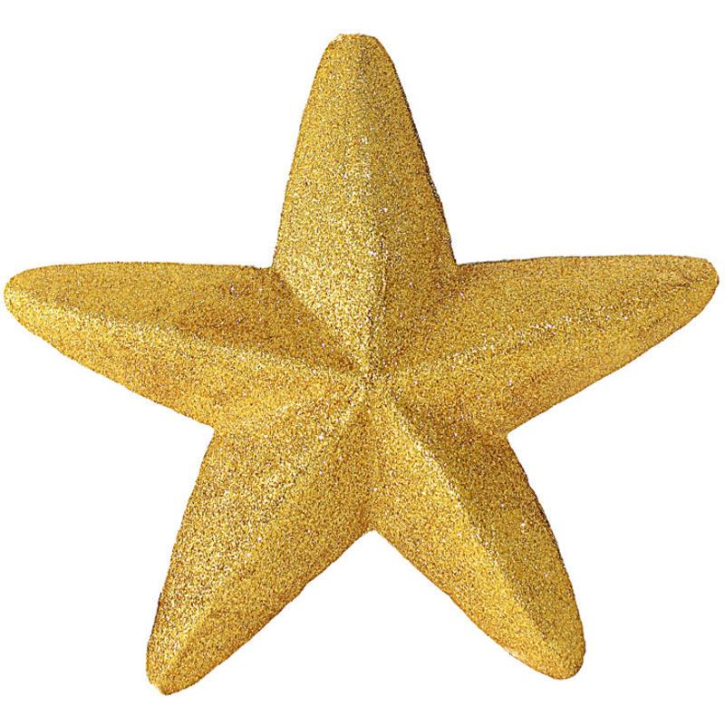 30cm Glitter Star Gold
