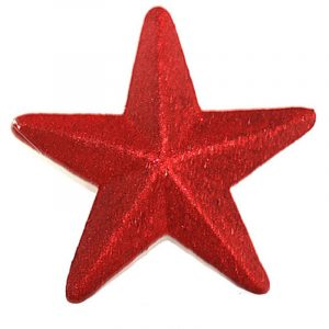 20cm Red Glitter Star