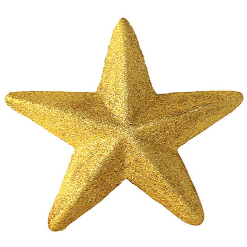 20cm Gold Glitter Star