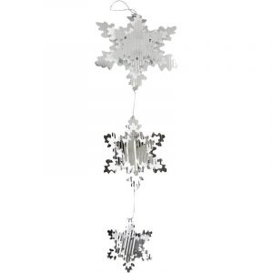 Pearl Silver Snowflake Mobile