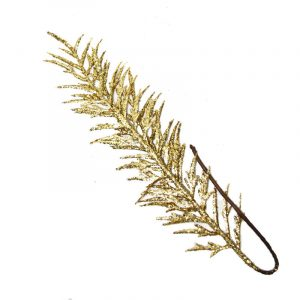 Gold Glitered Fern Leaf 60Cm