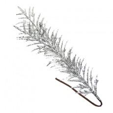 Silver Glitered Fern Leaf 60Cm