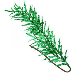 Ivy Green Glitered Fern Leaf 60Cm