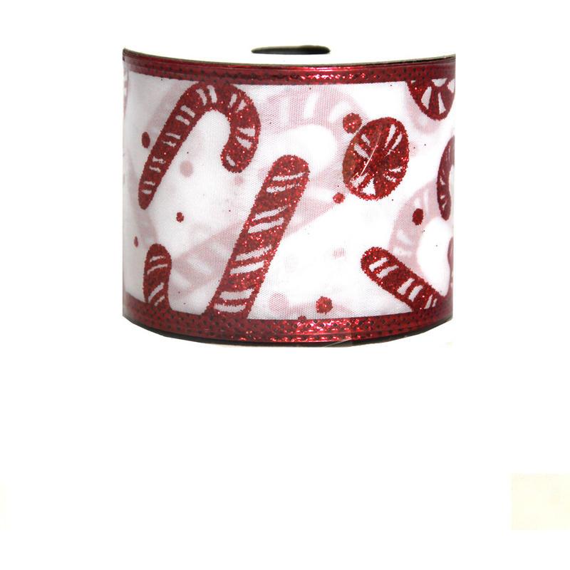 Candy Cane Taffeta Ribbon 9M