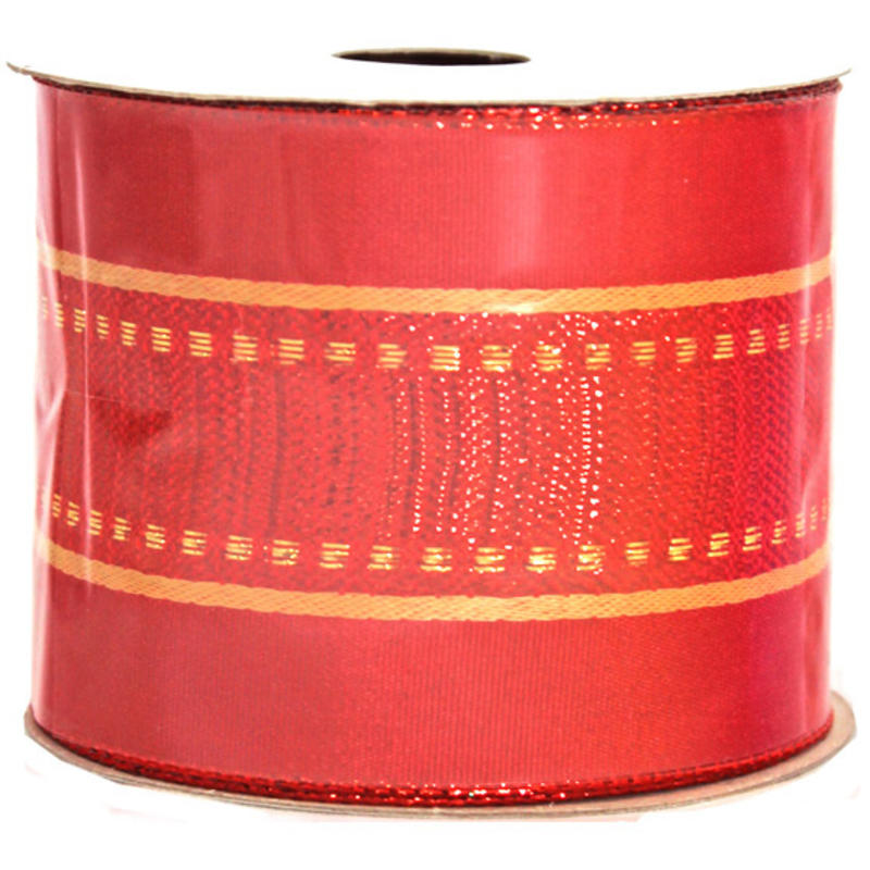 Red-Gold Woven Ribbon 9M