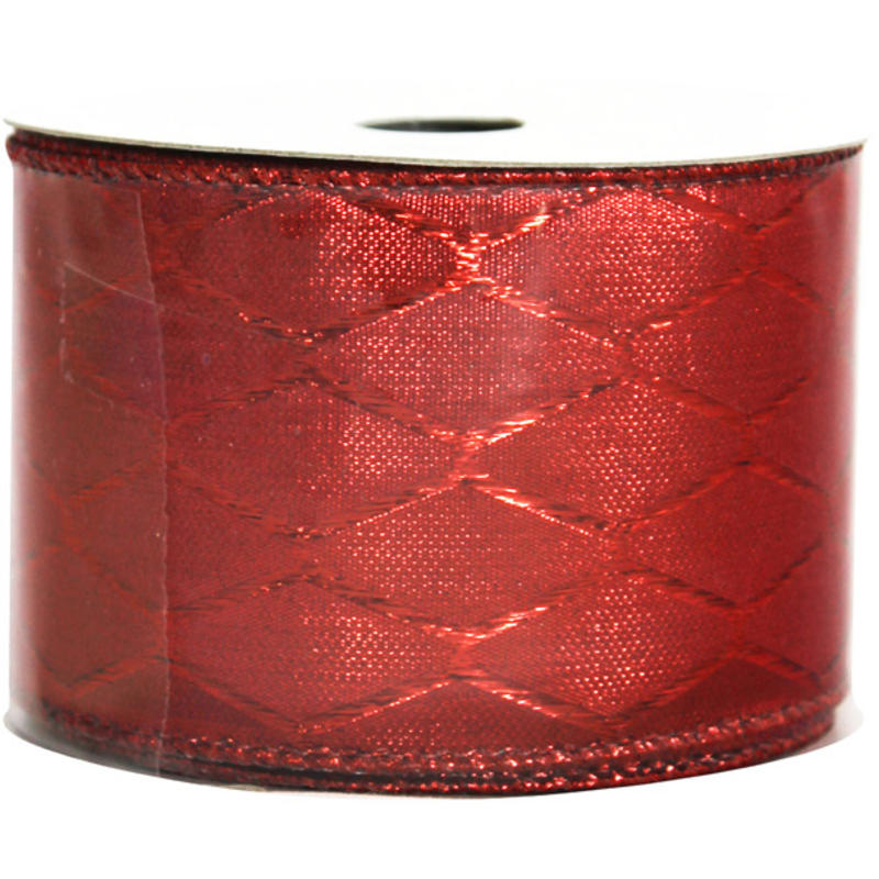 Red Metallic Jaquad Ribbon 9M