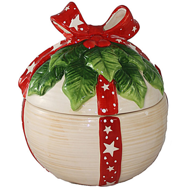 Ball Shape Candy Bowl With Lid