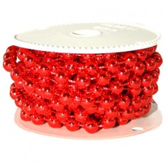 8MM BEAD GARLAND 5M Red