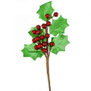23Cm Holly Branch