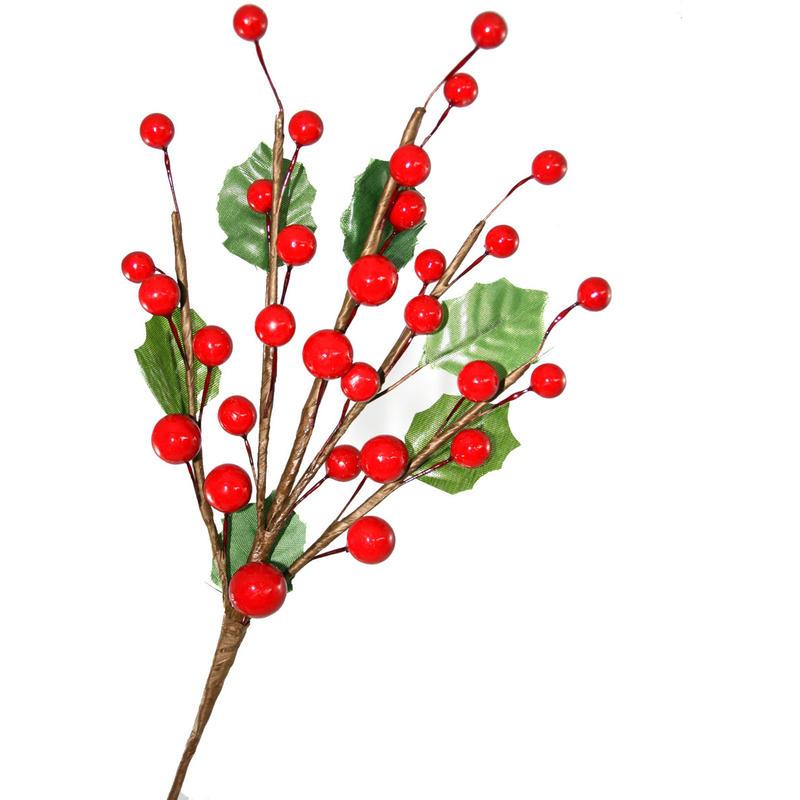 38Cm Holly Branch