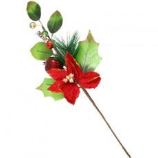 40Cm Poinsetta Branch