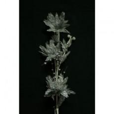 Silver Poinsettia Branch