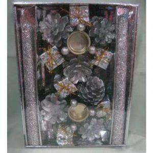 Silver Candle Holder Set