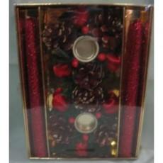 Red Candle Holder Set