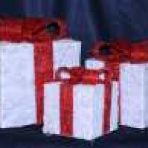 White Sisal Gift Box Set Of 3