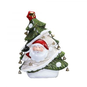 Santa On Christmas Tree Small Poly-resin