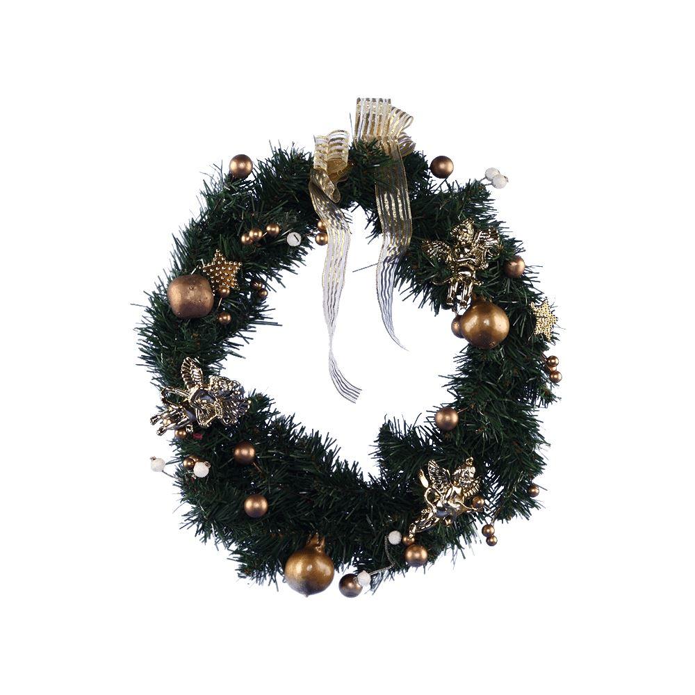 Gold Cherub Wreath 40Cm