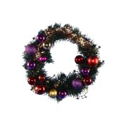 Red Gold Purple Wreath 40Cm