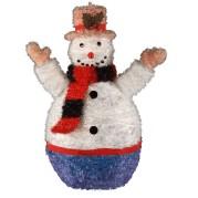 Peach Hat Snowman