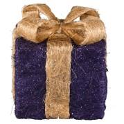 Purple/Lime Sisal Gift Box
