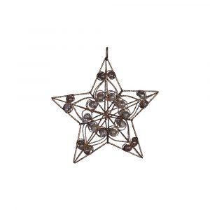Gold Metal Star With Bead 8Inch