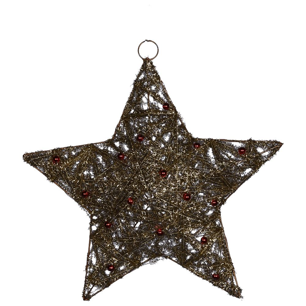 Gold Sisal Star 14Inch