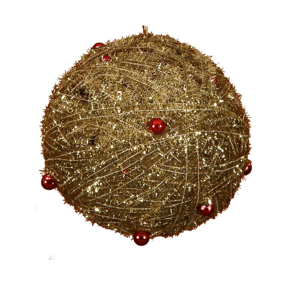Gold Ball With Red Bead