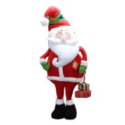 Cartoon Style Santa Holding Gift