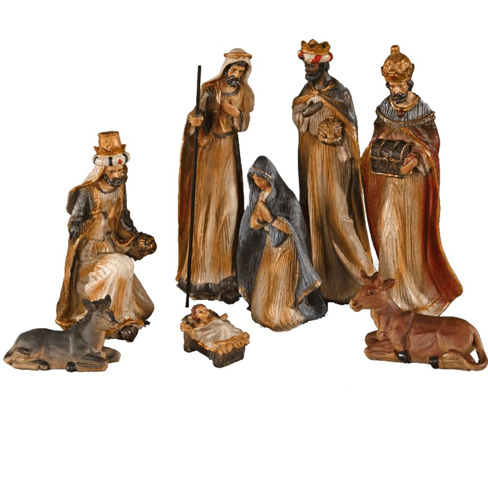 Medium Nativity 8Pc