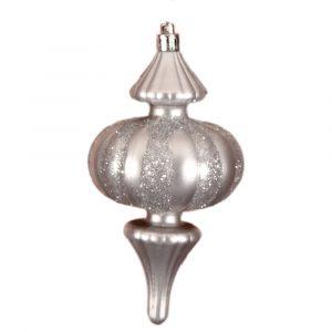 Silver Glitter Finial 15Cm