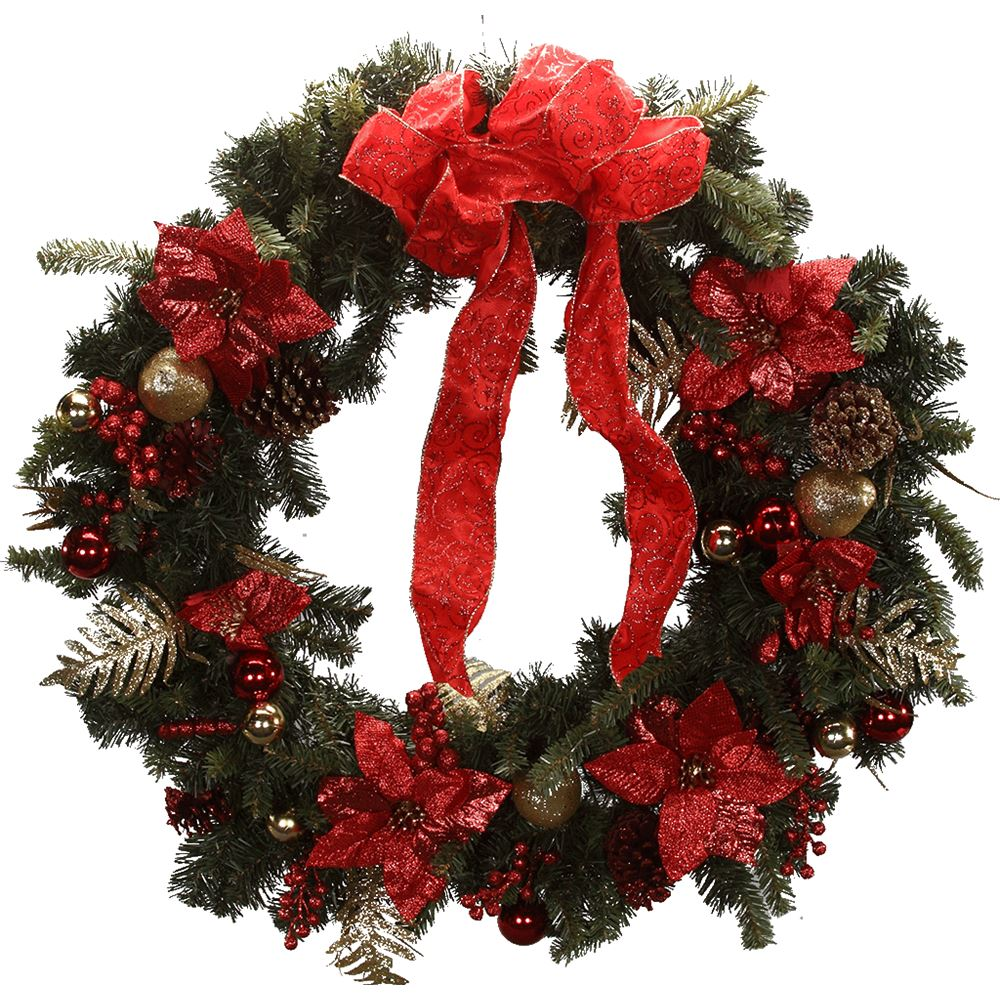 Christmas Wreath 90cm Decorated Wreaths & Garlands