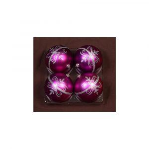 Purple Glitter Motif 10Cm 4Pk