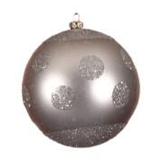 Silver Polka Dot 10Cm 4Pk
