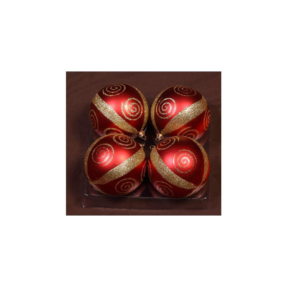 Red Strip N Swirl 10Cm 4Pk