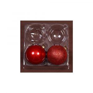 Red 10Cm Shiny/Sugar 2Pk
