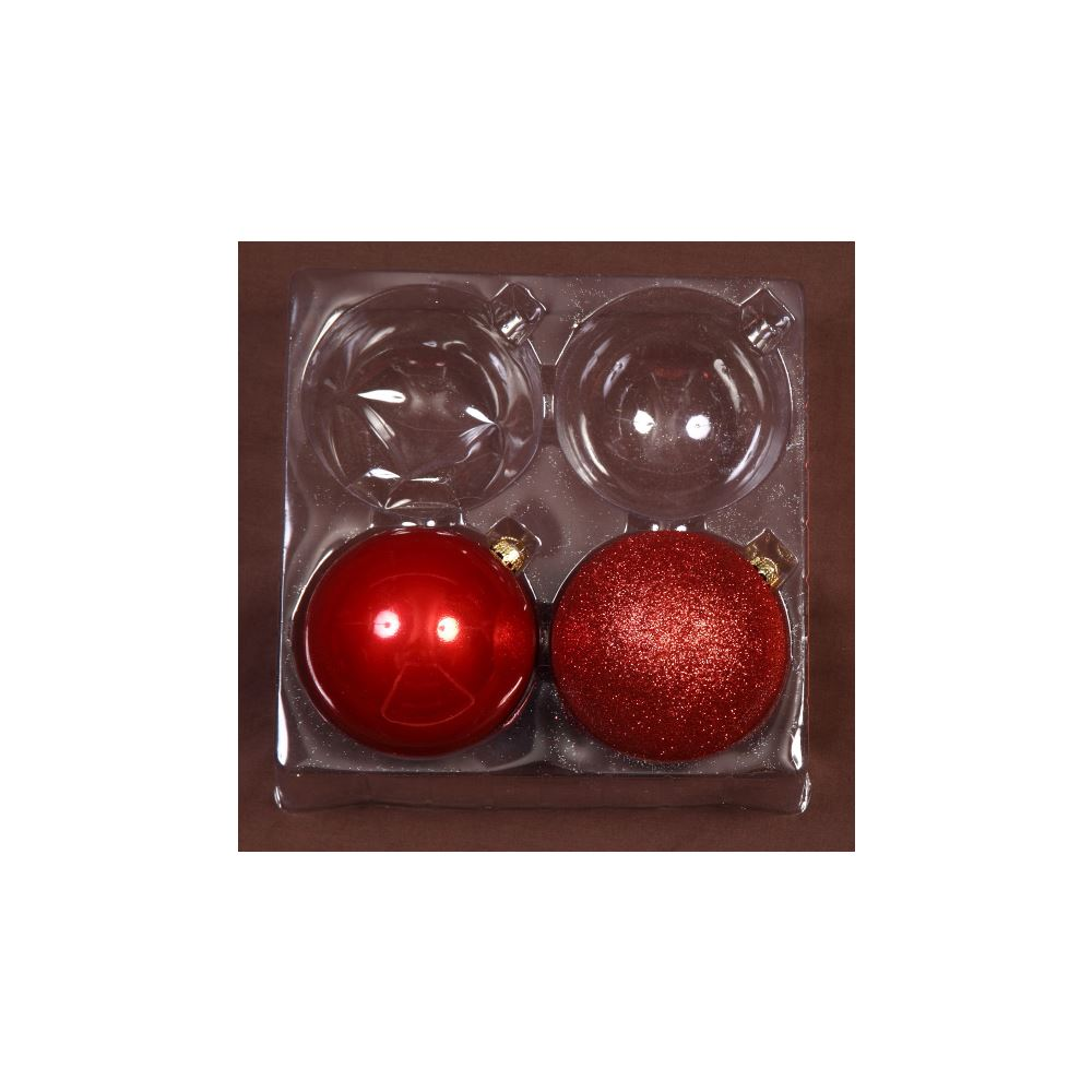 Red 10Cm Shiny/Sugar 2Pk