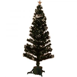 Merry Christmas Fibre Optic Tree 150Cm